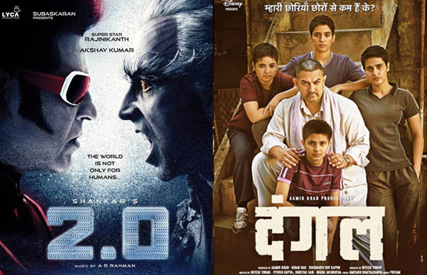 2.0 vs Dangal Box Office Collections