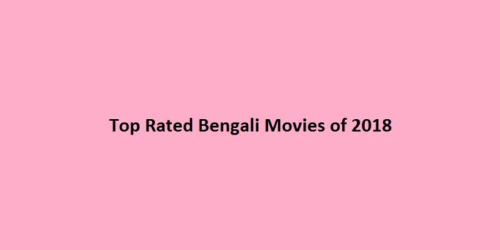 Top Rated Bengali Movies of 2018
