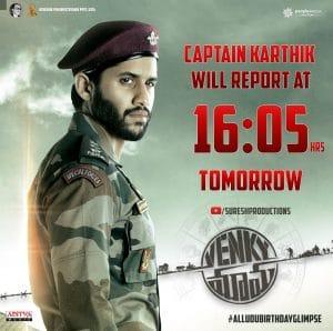 Mesmerizing Captain Karthik First Glimpse
